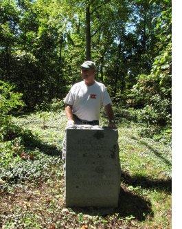 bill alexander at samuel davidson grave marker